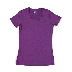 32 Degrees Cool Womens Scoop Neck Top Purple Small